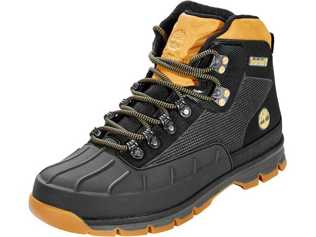 d6ca167f7acb Timberland Euro Hiker Shell Toe Jacquard Shoes Men Black Wheat ...
